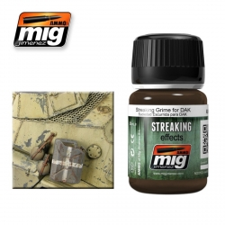 AMMO OF MIG A.MIG-1201 Salissures pour Afrikakorps – Streaking Grime 35ml