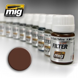 AMMO OF MIG A.MIG-1500 Filtre Brun Pour le Blanc – Filter 35ml
