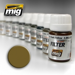 AMMO OF MIG A.MIG-1503 Filtre Ocre Pour Sable Clair - Filter 35ml