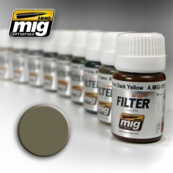 AMMO OF MIG A.MIG-1507 Filtre Brun-Roux Pour Jaune Vert – Filter 35ml