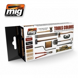 AMMO OF MIG A.MIG-7112 Acrylic Paint Set (6 jars) Tools Colors
