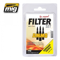 AMMO OF MIG A.MIG-7453 Filtres Pour Tanks Allemands – Filter Kit (3p)