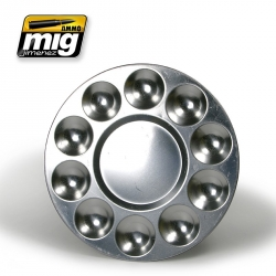 AMMO OF MIG A.MIG-8009 Palette Aluminium Pour Mélanges 10 Trous