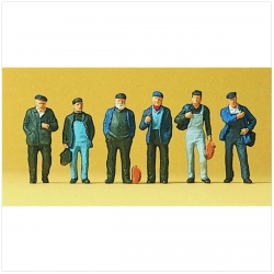 Preiser 10350 Figurines HO 1/87 Ouvriers et dockers - Workers and dockers