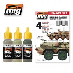 AMMO OF MIG A.MIG-7104 Set de 3 Flacons de Peinture Bundeswehr Afghanistan Scheme 17ml