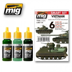 AMMO OF MIG A.MIG-7135 Acrylic Paint Set (3 jars) Vietnam Colors 17ml