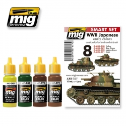 AMMO OF MIG A.MIG-7137 Acrylic Paint Set (4 jars) WWII Japanese AFV Early Colors 17ml