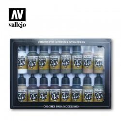 AMMO OF MIG A.MIG-7003 Set de 4 Flacons de Peinture Olive terne Variations 17ml