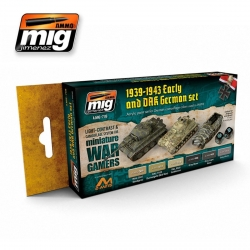 AMMO OF MIG A.MIG-7116 Set de 6 Flacons de Peinture Early And Dak Allemagne 17ml