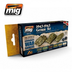 AMMO OF MIG A.MIG-7117 Acrylic Paint Set (6 jars) Wargame 1943-1945 German Set 17ml