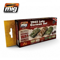 AMMO OF MIG A.MIG-7118 Set de 6 Flacons de Peinture Fin 1945 Allemagne 17ml