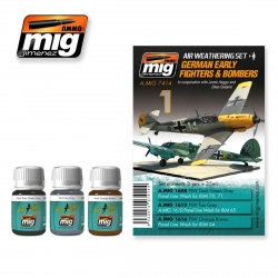 AMMO OF MIG A.MIG-7414 Lavis Kit German Fighters – Wash 3x35ml