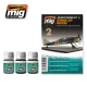 AMMO OF MIG A.MIG-7415 Lavis Kit German Late Fighters – Wash 3x35ml