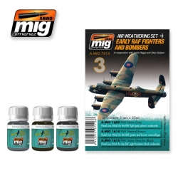 AMMO OF MIG A.MIG-7416 Lavis Kit Early RAF Fighters -Wash 3x35ml
