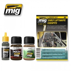 AMMO OF MIG A.MIG-7430 Kit Vieillissement Luftwaffe Cockpits – Weathering 3p
