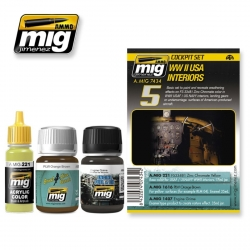 AMMO OF MIG A.MIG-7434 Vieillissement Kit WWII USA Intérieurs – Weathering 3p
