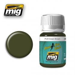 AMMO BY MIG A.MIG-1612 Lavis Panel Line Wash Vert Brun – Green Brown Wash 35ml