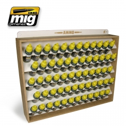 AMMO BY MIG A.MIG-8005 Présentoir 60 Flacons 17ml – Storage System 60Jars 17ml