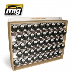 AMMO OF MIG A.MIG-8006 Présentoir 45 Flacons 35ml – Storage System 45Jars 35ml