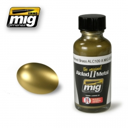 AMMO OF MIG A.MIG-8206 Laque Laiton Poli ALC109 – Polished Brass Lacquer 30ml
