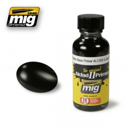 AMMO OF MIG A.MIG-8210 Primer Noir Brillant ALC305 – Primer Black Gloss 30ml