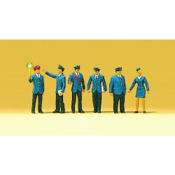 Preiser 10011 Figurines HO 1/87 Cheminots DB - Railway Personnel DB