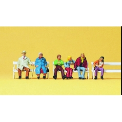 Preiser 10027 Figurines HO 1/87 Couples on Benches