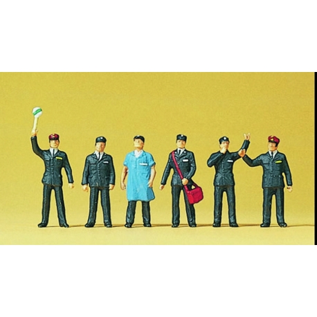 Preiser 10087 Figurines HO 1/87 Cheminots Suisses - Swiss railway personnel