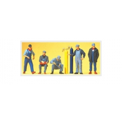 Preiser 10535 Figurines HO 1/87 Personnel de Chemin de Fer US