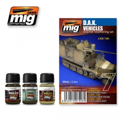 AMMO OF MIG A.MIG-7406 Vieillissement Forces Afrikakorps – Weathering Kit (3p)