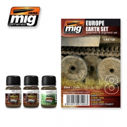 AMMO OF MIG A.MIG-7408 Vieillissement Terre Europe – Weathering Kit (3p)