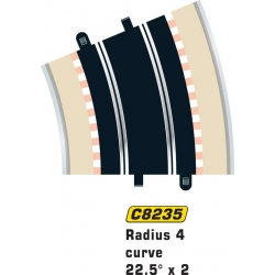 SCALEXTRIC C8235 2 Courbes R4 22.5° - Curve