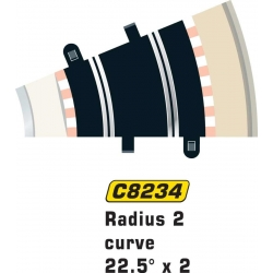 SCALEXTRIC C8234 2 Courbes R2 22.5°- Curve