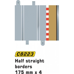 SCALEXTRIC C8223 Half Straight Borders 175mm x 4