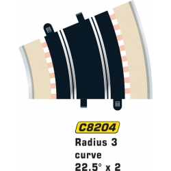 SCALEXTRIC C8204 2 Courbes R3 – Curve 2p 22.5°