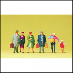 Preiser 10511 Figurines HO 1/87 Passagers marchant - Walking Passengers