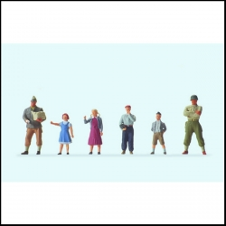 Preiser 10613 Figurines HO 1/87 US Soldiers and children
