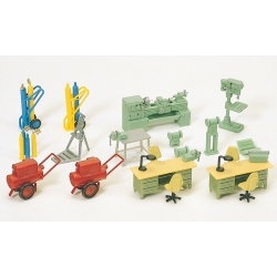 Preiser 17185 Figurines HO 1/87 Equipement d'atelier