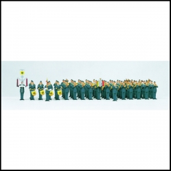 Preiser 13256 Figurines HO 1/87 Air Force Military Band, 61 figures