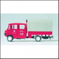 Preiser 35015 Figurines HO 1/87 Pompiers - Camion Mercedes-Benz L407D