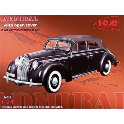 ICM 24022 1/24 Admiral With Open Cover WWII German Passenger Car