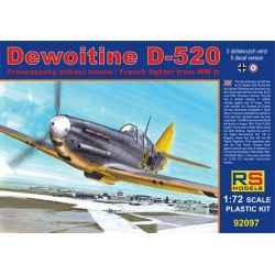 RS MODELS 92097 1/72 Dewoitine D-520 French Fighter WWII