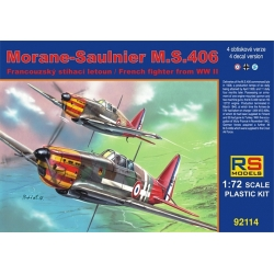 RS MODELS 92114 1/72 Morane-Saulnier M.S.406 French Fighter WWII