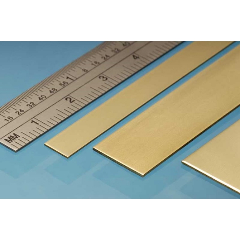 3p. ALBION ALLOYS BS8M Laiton Brass Strip 12 x 0.8 mm