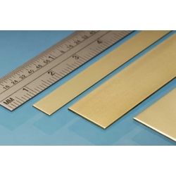 ALBION ALLOYS ABBS3M Laiton - Brass Strip 25 x 0.4 mm (3p.)