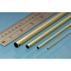 ALBION ALLOYS ABBT10M Laiton - Brass Tube 10 x 0.45 mm (2p.)