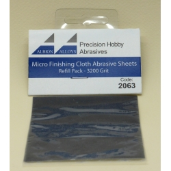 ALBION ALLOYS FF2063 Micro Finish Cloth Abr.Sheet 3200