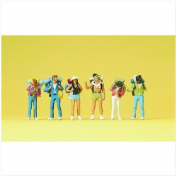 Preiser 10296 Figurines HO 1/87 Jeunes travailleurs - Young travellers