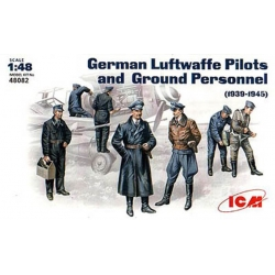 ICM 48082 1/48 German Luftwaffe Pilots and Ground Personnel (1939-1945)