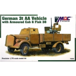 MAC 72069 1/72 German 3t AA Vehicle with Armoured Cab & Flak 38